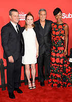 Matt Damon, Julianne Moore, George Clooney &amp; Karimah Westbrook at the premiere for &quot;Suburbicon&quot; at the Regency Village Theatre, Westwood. Los Angeles, USA 22 October  2017<br /> Picture: Paul Smith/Featureflash/SilverHub 0208 004 5359 sales@silverhubmedia.com