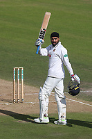 Murali Vijay of Essex acknowledges the crowd after reaching his century during Nottinghamshire CCC vs Essex CCC, Specsavers County Championship Division 1 Cricket at Trent Bridge on 13th September 2018