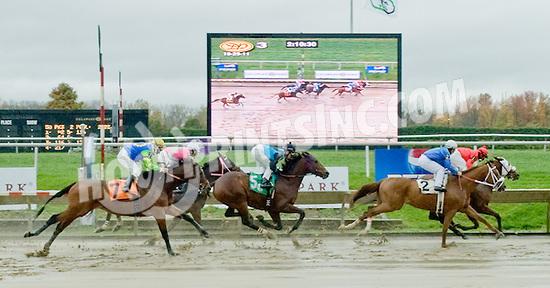 Fancy Runner winning at Delaware Park on 10/29/11