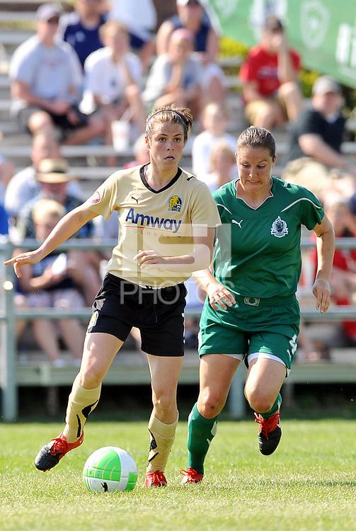Kelley O'Hara, Kendall Fletcher...Saint Louis Athletica defeated FC Gold Pride 2-0 at Anheuser-Bush Soccer Park, Fenton, Missouri.