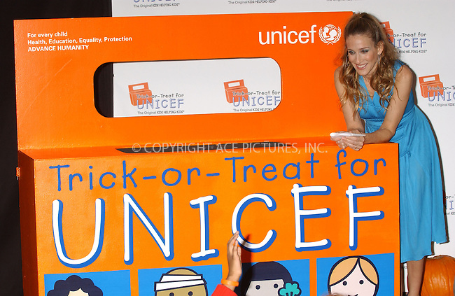 WWW.ACEPIXS.COM . . . . . ....October 25, 2006, New York City. ....Sarah Jessica Parker attends the Unicef Halloween Party held at Unicef House. ....Please byline: KRISTIN CALLAHAN - ACEPIXS.COM.. . . . . . ..Ace Pictures, Inc:  ..(212) 243-8787 or (646) 769 0430..e-mail: info@acepixs.com..web: http://www.acepixs.com