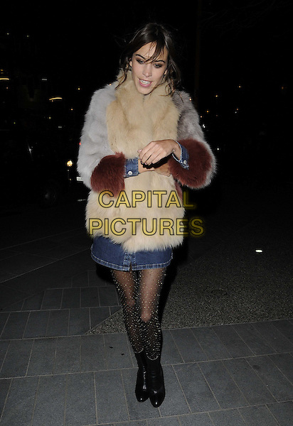LONDON, ENGLAND - JANUARY 15: Alexa Chung attends the Alexa Chung fashion collaboration with AG Jeans launch party, Neo Bankside, Pavilion B, Holland St., on Thursday January 15, 2015 in London, England, UK. <br /> CAP/CAN<br /> &copy;Can Nguyen/Capital Pictures