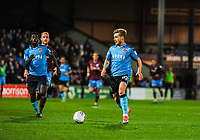 Fleetwood Town's forward Conor McAleny (10) runs towards the 18 yard box during the Sky Bet League 1 match between Scunthorpe United and Fleetwood Town at Glanford Park, Scunthorpe, England on 17 October 2017. Photo by Stephen Buckley/PRiME Media Images