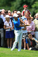 Rory McIlroy (NIR) on the 9th during Round 2 of the Irish Open at Fota Island on Friday 20th June 2014.<br /> Picture:  Thos Caffrey / www.golffile.ie