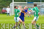 Spa's v Milltown/Castlemaine's. in their.Intermediate Championship.quarter-final.
