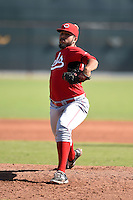 Cincinnati Reds pitcher Soid Marquez (48) during an Instructional League game against the Los Angeles Dodgers on October 11, 2014 at Goodyear Training Complex in Goodyear, Arizona.  (Mike Janes/Four Seam Images)