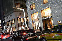 LOUIS VUITTON, FRENCH LUXURY BRAND SHOP AND BVLGALI, ITALIAN LUXURY BRAND SHOP ARE NEXT EACH OTHER IN GINZA 2 CHOME, TOKYO, JAPAN