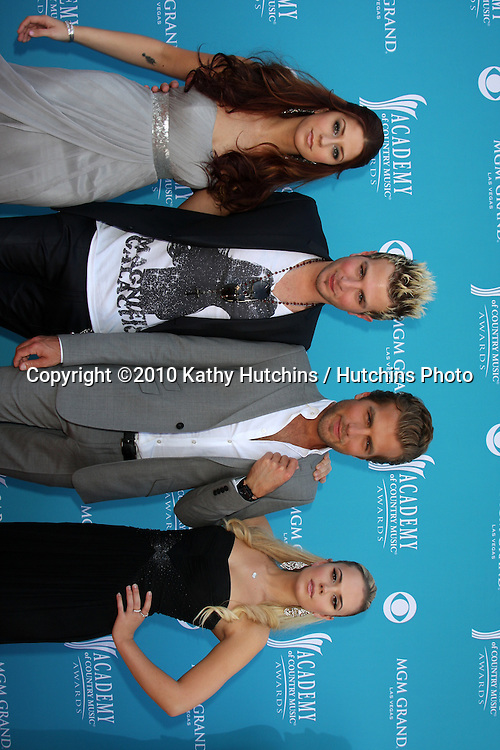 Gloriana.arrives at the Academy of Country Music Awards 2010.MGM Garden Arena.Las Vegas, NV.April 18, 2010.©2010 Kathy Hutchins / Hutchins Photo....