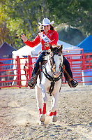 Miss Rodeo waves at the 65th year of The Homestead Rodeo, Homestead, FL, on January 26, 2014