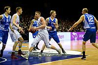 GRONINGEN - Basketbal, Donar - Landstede Zwolle, Martiniplaza,  Dutch Basketball League, seizoen 2017-2018, 12-11-2017,  Donar speler Evan Bruinsma snelt door de Zwolle defensie