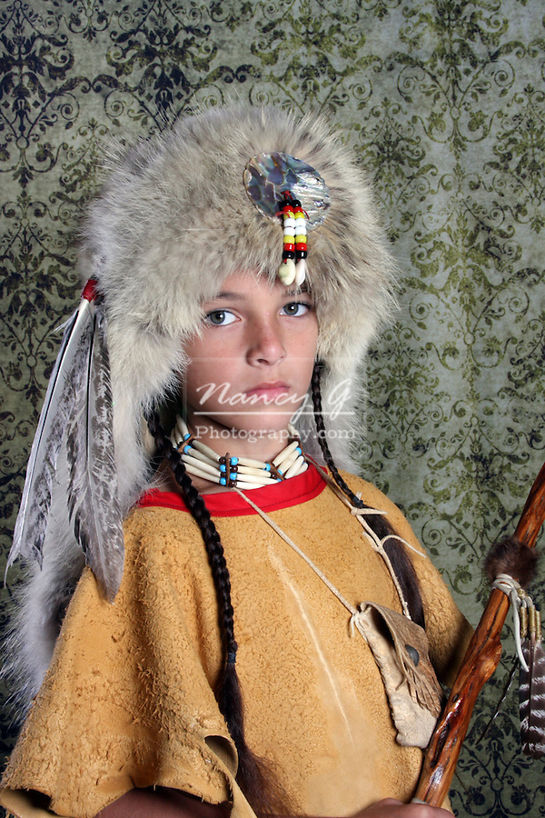Native American Lakota Sioux Indian boy