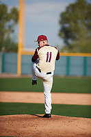 C.J. Bianco (11) of Citrus H.S High School in Inverness, Florida during the Under Armour All-American Pre-Season Tournament presented by Baseball Factory on January 14, 2017 at Sloan Park in Mesa, Arizona.  (Zac Lucy/MJP/Four Seam Images)