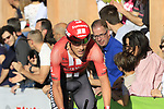 Louis Vervaeke (BEL) Team Sunweb on the San Luca climb during Stage 1 of the 2019 Giro d'Italia, an individual time trial running 8km from Bologna to the Sanctuary of San Luca, Bologna, Italy. 11th May 2019.<br /> Picture: Eoin Clarke | Cyclefile<br /> <br /> All photos usage must carry mandatory copyright credit (© Cyclefile | Eoin Clarke)