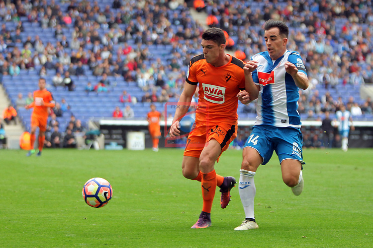 League Santander 2016/2017. Game: 9.<br /> RCD Espanyol vs SD Eibar: 3-3.<br /> Ander Capa vs Jurado.