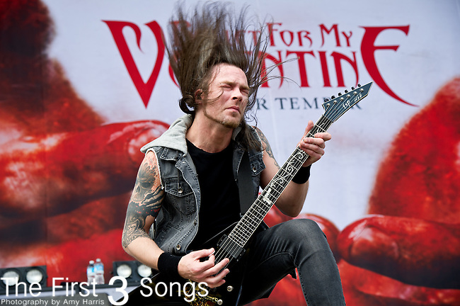 Michael Paget of Bullet for My Valentine performs during the 2013 Rock On The Range festival at Columbus Crew Stadium in Columbus, Ohio.
