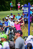 Michelle Wie (USA) watches her tee shot on 15 during Saturday's round 3 of the 2017 KPMG Women's PGA Championship, at Olympia Fields Country Club, Olympia Fields, Illinois. 7/1/2017.<br /> Picture: Golffile | Ken Murray<br /> <br /> <br /> All photo usage must carry mandatory copyright credit (&copy; Golffile | Ken Murray)