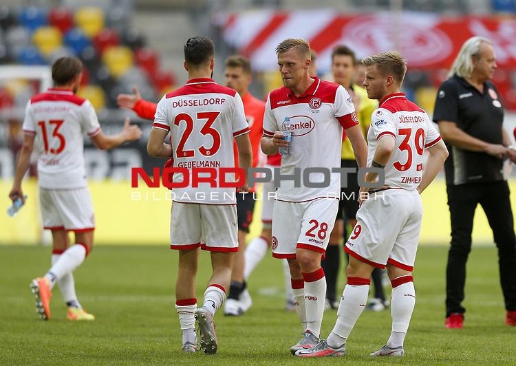Rouwen Hennings (F95), Jean Zimmer (F95)<br /><br />20.06.2020, Fussball, 1. Bundesliga, Saison 2019 / 2020<br />33.Spieltag, Fortuna Duesseldorf : FC Augsburg<br /><br />Foto : NORBERT SCHMIDT/POOL/ via Meuter/nordphoto<br /><br />Nur für journalistische Zwecke ! Only for editorial use .
