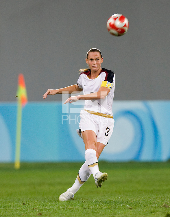 Christie Rampone. The USWNT defeated New Zealand, 4-0, during the 2008 Beijing Olympics in Shenyang, China.  With the win, the USWNT won group G and advanced to the semifinals.