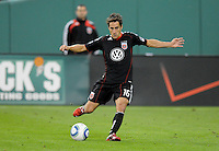 DC United forward Josh Wolff (16) celebrates with team mates his score in the 31th minute of the game.   DC United defeated The Seattle Sounders 2-1 at  RFK Stadium, Wednesday May 4, 2011.