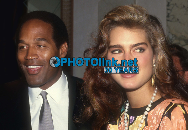 #OJ Simpson #BrookeShields 1982<br /> Photo By John BarrettPHOTOlink.net