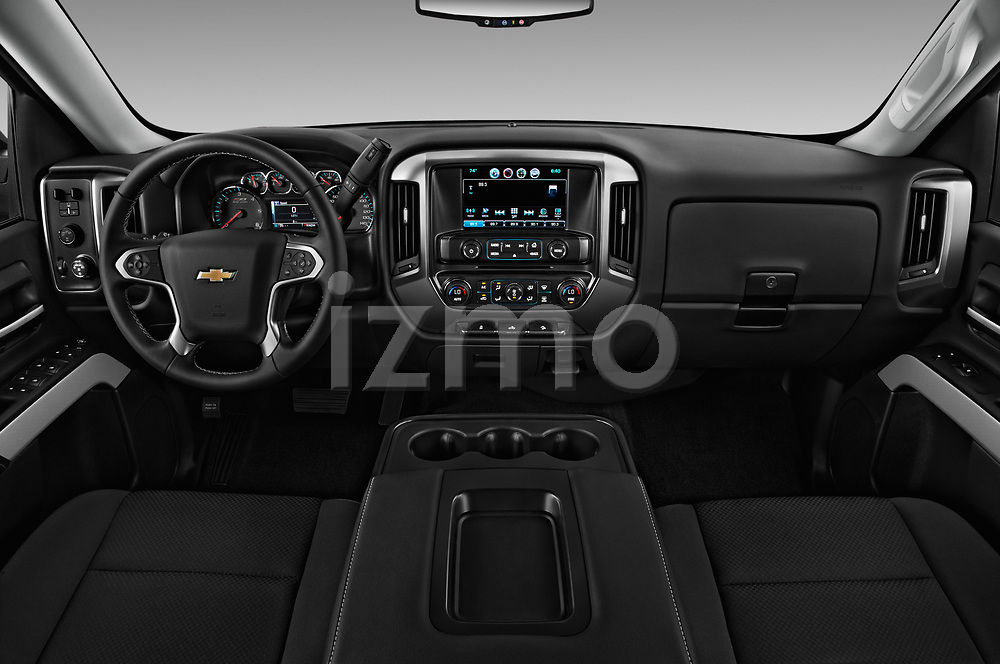 Stock photo of straight dashboard view of 2017 Chevrolet Silverado-1500 LT-Z71-Crew 4 Door Pick-up Dashboard