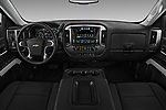 Stock photo of straight dashboard view of 2018 Chevrolet Silverado-1500 LT-Z71-Crew 4 Door Pick-up Dashboard