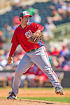 7 March 2013: Washington Nationals pitcher Ross Ohlendorf on the mound during a Spring Training game against the Houston Astros at Osceola County Stadium in Kissimmee, Florida. The Astros defeated the Nationals 4-2 in Grapefruit League play. Mandatory Credit: Ed Wolfstein Photo *** RAW (NEF) Image File Available ***