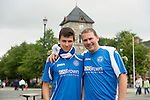 Rosenborg v St Johnstone....17.07.13  UEFA Europa League Qualifier.<br /> St Johnstone fans in Trondheim..Pictured from left Don and Iain Eisner<br /> Picture by Graeme Hart.<br /> Copyright Perthshire Picture Agency<br /> Tel: 01738 623350  Mobile: 07990 594431