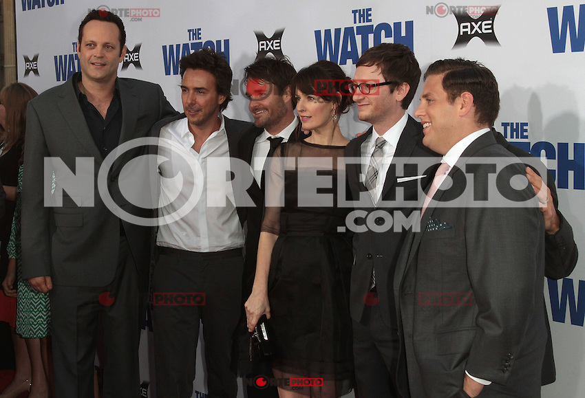 Cast of The Watch arrives at 'The Watch' Premiere Sponsored by AXE at Grauman's Chinese Theatre on July 23, 2012 in Hollywood, California MPI25 / Mediapunchinc /*NortePhoto.com*<br /> **CREDITO*OBLIGATORIO** *No*Venta*A*Terceros* *No*Sale*So*third* ***No*Se*Permite*Hacer Archivo***No*Sale*So*third*&copy;Imagenes*con derechos*de*autor&copy;todos*reservados*.