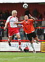 Mark Roberts of Stevenage Borough scores the first goal  during the Blue Square Premier match between Stevenage Borough and Salisbury City at the Lamex Stadium, Broadhall Way, Stevenage on 17th October, 2009.© Kevin Coleman 2009 .