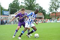 VOETBAL: DE KNIPE: Read Swart-complex, 21-07-2012, Oefenwedstrijd SC Heerenveen - K. Beerschot AC, Dries Wuytens (#3), Matthew Amoah (#14), ©foto Martin de Jong