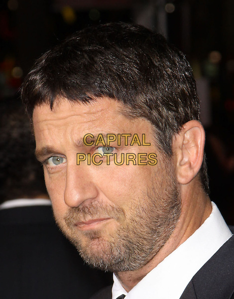 GERARD BUTLER.The Overature Film L.A. Premiere of Law Abiding Citizen held at The Grauman's Chinese Theater in Hollywood, California, USA. .October 6th, 2009 .headshot portrait grey gray black stubble facial hair .CAP/ADM/KB.©Kevan Brooks/AdMedia/Capital Pictures.