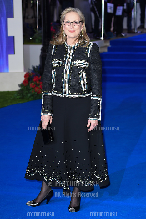 LONDON, UK. December 12, 2018: Meryl Streep at the UK premiere of &quot;Mary Poppins Returns&quot; at the Royal Albert Hall, London.<br /> Picture: Steve Vas/Featureflash