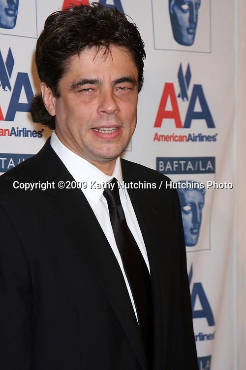 Benicio Del Toro.arriving at The  2009 BAFTA BritanniaAwards.Century Plaza Hotel.Century City,  CA.November 5, 2009.©2009 Kathy Hutchins / Hutchins Photo.