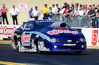 Oct. 5, 2012; Mohnton, PA, USA: NHRA pro stock driver Jason Line during qualifying for the Auto Plus Nationals at Maple Grove Raceway. Mandatory Credit: Mark J. Rebilas-