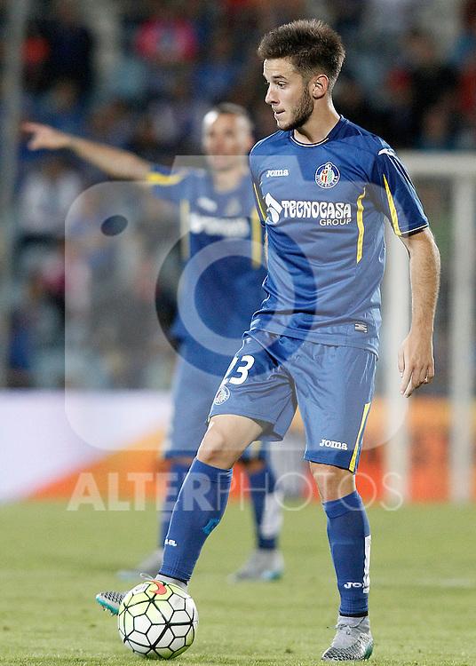 Getafe's Alvaro Medran during La Liga match.September 18,2015. (ALTERPHOTOS/Acero)