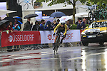 Primoz Roglic (SLO) Lotto NL-Jumbo in action during Stage 1, a 14km individual time trial around Dusseldorf, of the 104th edition of the Tour de France 2017, Dusseldorf, Germany. 1st July 2017.<br /> Picture: Eoin Clarke | Cyclefile<br /> <br /> <br /> All photos usage must carry mandatory copyright credit (&copy; Cyclefile | Eoin Clarke)