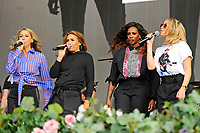 LONDON, ENGLAND - SEPTEMBER 9: Nicole Appleton, Melanie Blatt, Shaznay Lewis and Natalie Appleton of 'All Saints' performing at BBC Radio 2 Live in Hyde Park, on September 9, 2018 in London, England.<br /> CAP/MAR<br /> &copy;MAR/Capital Pictures