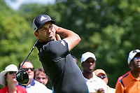 Sergio Garcia (ESP) watches his tee shot on 11 during Saturday's round 3 of the World Golf Championships - Bridgestone Invitational, at the Firestone Country Club, Akron, Ohio. 8/5/2017.<br /> Picture: Golffile | Ken Murray<br /> <br /> <br /> All photo usage must carry mandatory copyright credit (&copy; Golffile | Ken Murray)