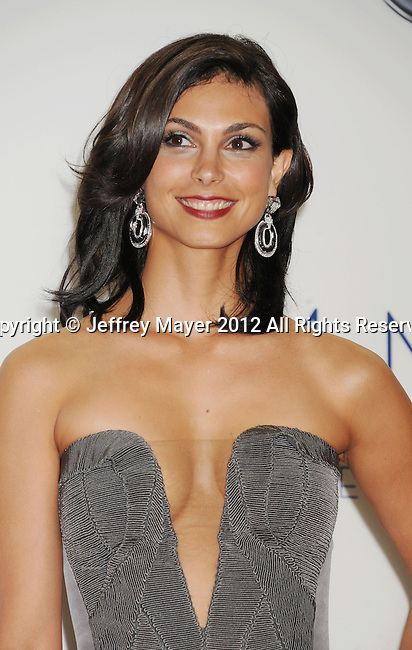 LOS ANGELES, CA - SEPTEMBER 23: Morena Baccarin poses in the press room at the 64th Primetime Emmy Awards held at Nokia Theatre L.A. Live on September 23, 2012 in Los Angeles, California.