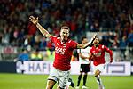Nederland, Alkmaar, 27 augustus 2015<br /> Europa League voorronde<br /> Seizoen 2015-2016<br /> AZ-FC Astra Giurgiu<br /> Robert Muhren van AZ juicht, nadat hij de 2-0 heeft gescoord.