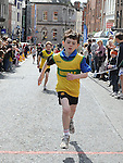 Tom Cummins winner of the under 12 race at the Boyne 10K. Photo: Colin Bell/pressphotos.ie