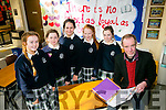 Ava Kelliher, Sarah Tansley, Aoife Doyle, Leona O'Shea, <br /> R&oacute;is&iacute;n Brosnan with Brendan Murphy, author of the Play 'Kicking Oscars corps' held a creative writing workshop at Presentation Secondary School Tralee on Tuesday part of Love Literature Week