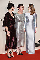 LONDON, UK. October 18, 2018: Rachel Weisz, Olivia Colman and Emma Stone at the London Film Festival screening of &quot;The Favourite&quot; at the BFI South Bank, London.<br /> Picture: Steve Vas/Featureflash
