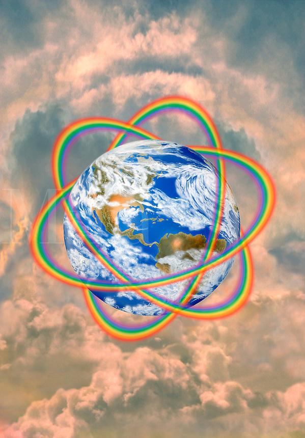 Digital illustration: Earth Rings Americas.