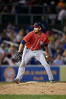 New Hampshire Fisher Cats pitcher Danny Young (23) during an Eastern League game against the Trenton Thunder on August 20, 2019 at Arm & Hammer Park in Trenton, New Jersey.  New Hampshire defeated Trenton 7-2.  (Mike Janes/Four Seam Images)