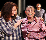 Stockard Channing & Sunny Jacobs (Exoneree) during the Curtain Call for the 10th Anniversary Production of 'The Exonerated' at the Culture Project in New York City on 9/19/2012.