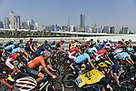 The start of Stage 5 The Meraas Stage final stage of the Dubai Tour 2018 the Dubai Tour&rsquo;s 5th edition, running 132km from Skydive Dubai to City Walk, Dubai, United Arab Emirates. 10th February 2018.<br /> Picture: LaPresse/Fabio Ferrari | Cyclefile<br /> <br /> <br /> All photos usage must carry mandatory copyright credit (&copy; Cyclefile | LaPresse/Fabio Ferrari)