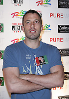 BEN AFFLECK.The Ante Up for Africa Celebrity Poker Tournament at the Rio Resort Hotel and Casino, Las Vegas, Nevada, USA..July 2nd, 2009.half length blue t-shirt arms crossed muscles .CAP/ADM/MJT.© MJT/AdMedia/Capital Pictures