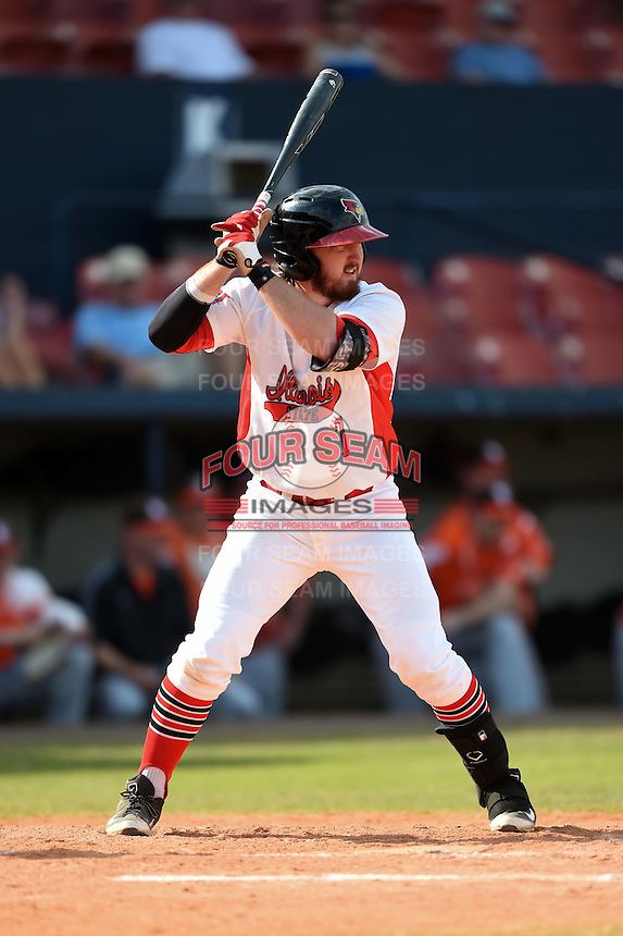 Illinois State Redbirds Mason Snyder (7) during a game against the Bowling Green Falcons on March 11, 2015 at Chain of Lakes Stadium in Winter Haven, Florida.  Illinois State defeated Bowling Green 8-7.  (Mike Janes/Four Seam Images)